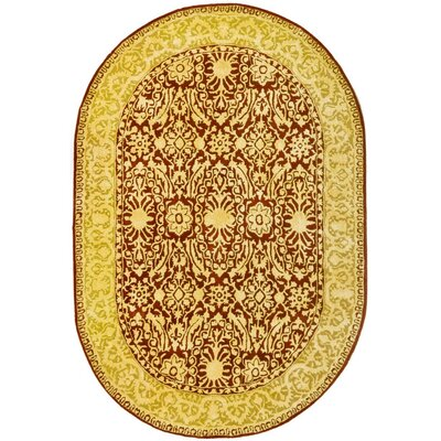Sik Road Maroom/Ivory Area Rug Rug Size: Rectangle 3 x 5
