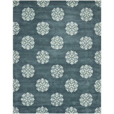 Soho Slate Blue/Light Blue Area Rug Rug Size: 7'6
