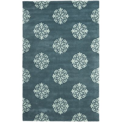 Soho Slate Blue/Light Blue Area Rug Rug Size: 5 x 8