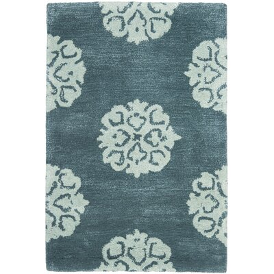 Soho Slate Blue/Light Blue Area Rug Rug Size: 2 x 3