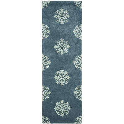 Soho Slate Blue/Light Blue Area Rug Rug Size: Runner 26 x 12