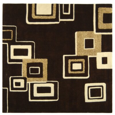Soho Brown/Beige Area Rug Rug Size: Square 6'