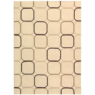 Soho Ivory Area Rug Rug Size: Rectangle 96 x 136