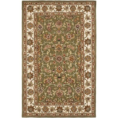 Traditions Sage/Ivory Area Rug Rug Size: Runner 26 x 8