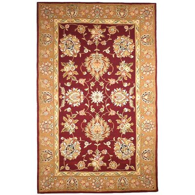 Traditions Masterpiece Red/Gold Area Rug Rug Size: Round 4