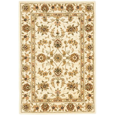Traditions Ivory Area Rug Rug Size: Round 6