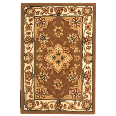 Traditions Tan/Ivory Area Rug Rug Size: 6 x 9