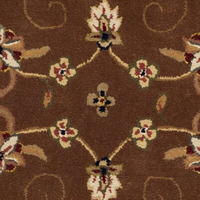 Traditions Tan/Ivory Area Rug Rug Size: Round 8