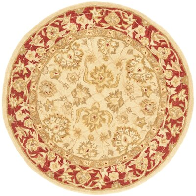 Pritchard Hand-Woven Wool Area Rug Rug Size: Round 4