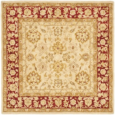 Pritchard Hand-Woven Wool Area Rug Rug Size: Square 6