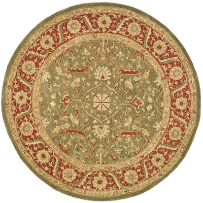 Pritchard Persimmon Area Rug Rug Size: Round 6