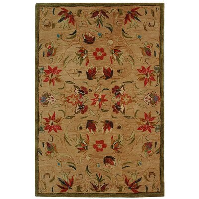 Anatolia Beige/Green Area Rug Rug Size: Rectangle 8 x 10