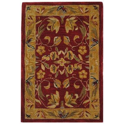 Anatolia Burgundy/Gold Area Rug Rug Size: Rectangle 4 x 6