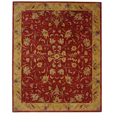 Anatolia Burgundy/Gold Area Rug Rug Size: Rectangle 96 x 136