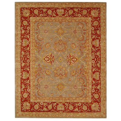 Anatolia Grey/Red Area Rug Rug Size: 96 x 136