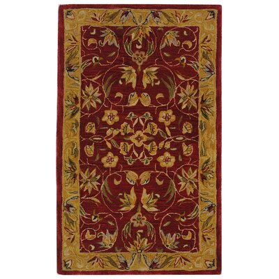 Anatolia Burgundy/Gold Area Rug Rug Size: Rectangle 3 x 5