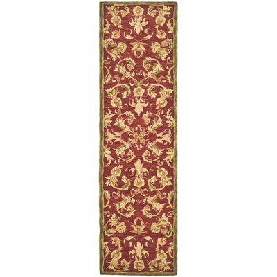 Anatolia Burgundy/Sage Area Rug Rug Size: Runner 23 x 8