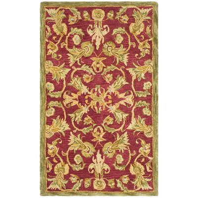Anatolia Burgundy/Sage Area Rug Rug Size: Rectangle 3 x 5