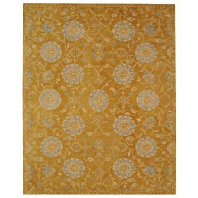 Anatolia Gold/Blue Area Rug Rug Size: Rectangle 96 x 136