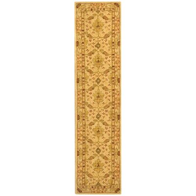 Anatolia Cream/Red Area Rug Rug Size: Runner 23 x 14