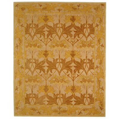 Anatolia Ivory/Gold Area Rug Rug Size: Rectangle 96 x 136