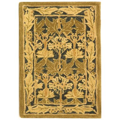 Anatolia Navy/Sage Area Rug Rug Size: Rectangle 2' x 3'