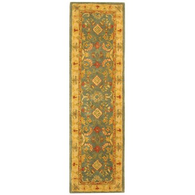 Anatolia Light Blue & Ivory Area Rug Rug Size: Runner 23 x 8