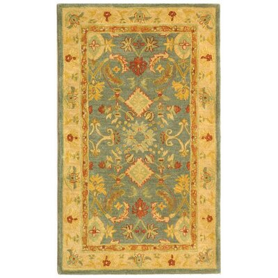 Pritchard Blue Area Rug Rug Size: Rectangle 3 x 5