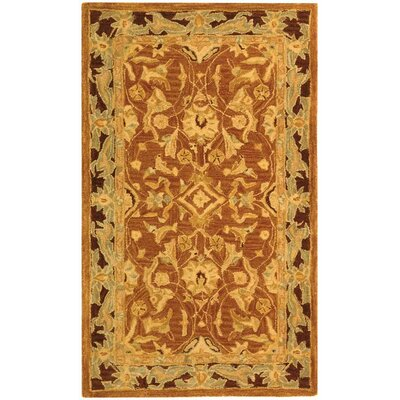 Anatolia Rust/Brown Area Rug Rug Size: 3 x 5