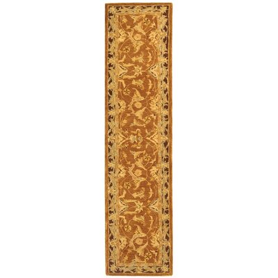 Anatolia Rust/Brown Area Rug Rug Size: Runner 23 x 12