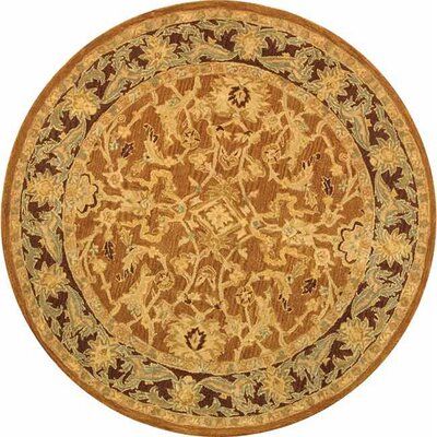 Anatolia Rust/Brown Area Rug Rug Size: Round 4