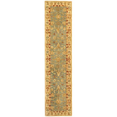 Anatolia Oriental Blue/Ivory Area Rug Rug Size: Runner 23 x 8