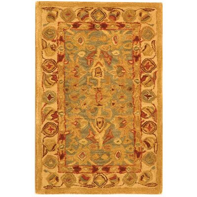 Anatolia Oriental Blue/Ivory Area Rug Rug Size: Rectangle 6 x 9