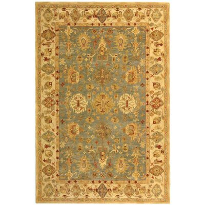 Anatolia Oriental Blue/Ivory Area Rug Rug Size: Rectangle 96 x 136