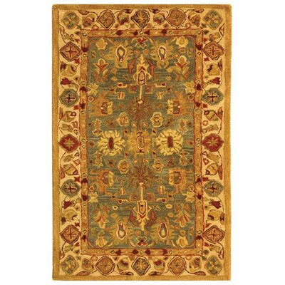 Anatolia Oriental Blue/Ivory Area Rug Rug Size: Rectangle 3 x 5