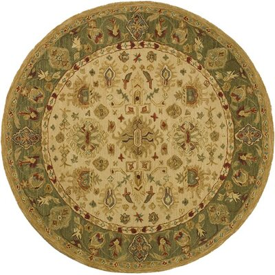 Anatolia Cream/Dark Sage Area Rug Rug Size: Rectangle 96 x 136