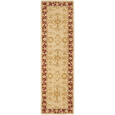 Anatolia Ivory & Red Area Rug Rug Size: Runner 23 x 10