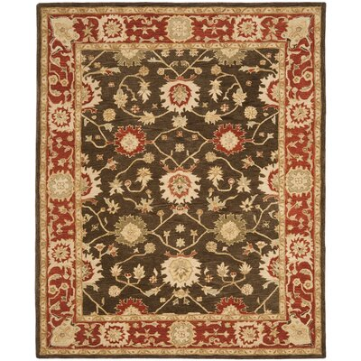 Pritchard Hand-Woven Wool Olive/Rust Area Rug Rug Size: Rectangle 9 x 12