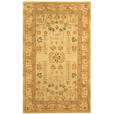 Anatolia Sand/Sand Area Rug Rug Size: Rectangle 6 x 9