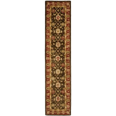 Pritchard Hand-Woven Wool Olive/Rust Area Rug Rug Size: Runner 23 x 16