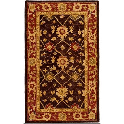 Pritchard Hand-Woven Wool Olive/Rust Area Rug Rug Size: Rectangle 4 x 6