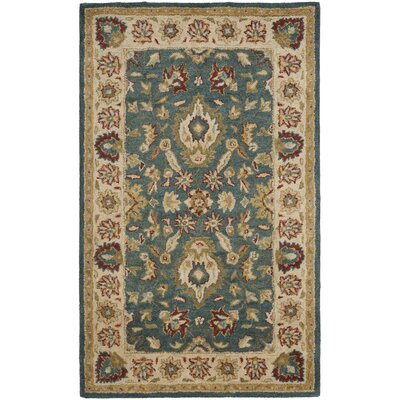 Antiquities Blue/Beige Area Rug Rug Size: 4 x 6