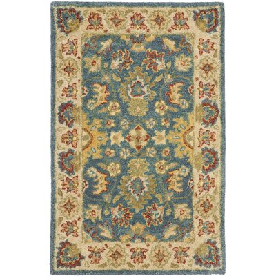 Antiquities Blue/Beige Area Rug Rug Size: 2 x 3