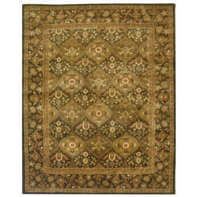 Antiquity Hand-Woven Wool Olive Area Rug Rug Size: Rectangle 83 x 11