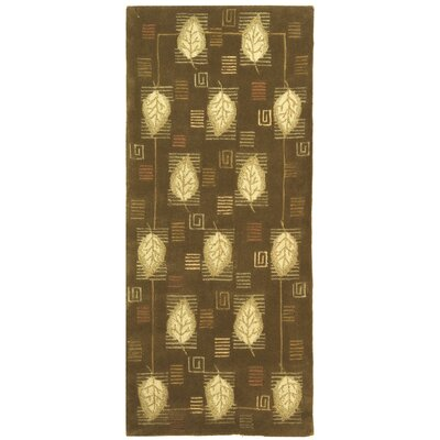 Berkeley Sage Leaves Area Rug Rug Size: Runner 2'6