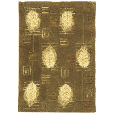 Berkeley Sage Leaves Area Rug Rug Size: 89 x 119