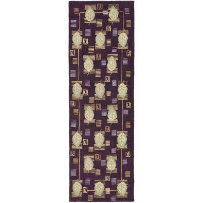 Berkeley Plum Leaves Area Rug Rug Size: Runner 26 x 10