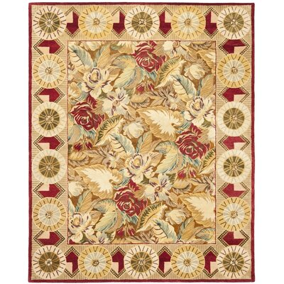 Bergama Beige/Taupe Area Rug Rug Size: 5 x 8