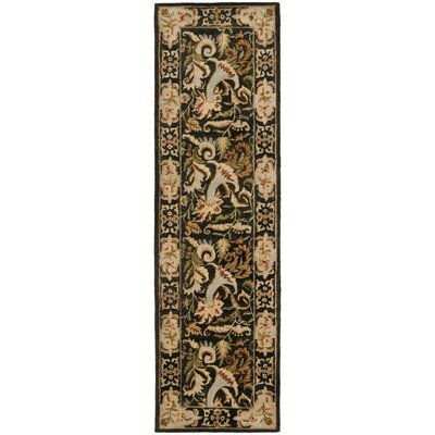 Bergama Charcoal Area Rug Rug Size: Rectangle 9 x 12