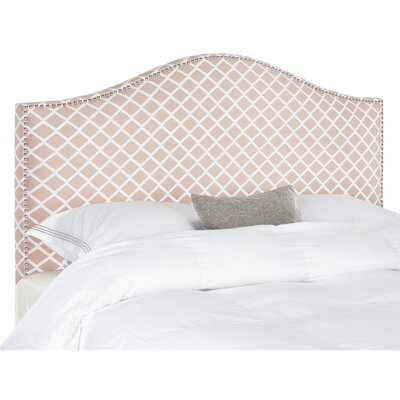 Connie Full Upholstered Panel Headboard Upholstery: White / Peach Pink